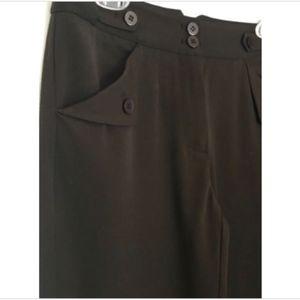 NEW Grace Elements Dress Cuffed Pants Brown Sz 2P